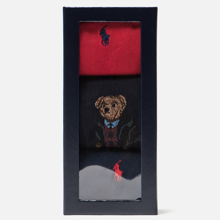 Комплект носков Polo Ralph Lauren AGL Sweat Bear 3-Pack Red/Multicolor