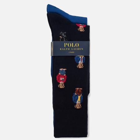 Комплект мужских носков Polo Ralph Lauren Bear 2-Pack Navy