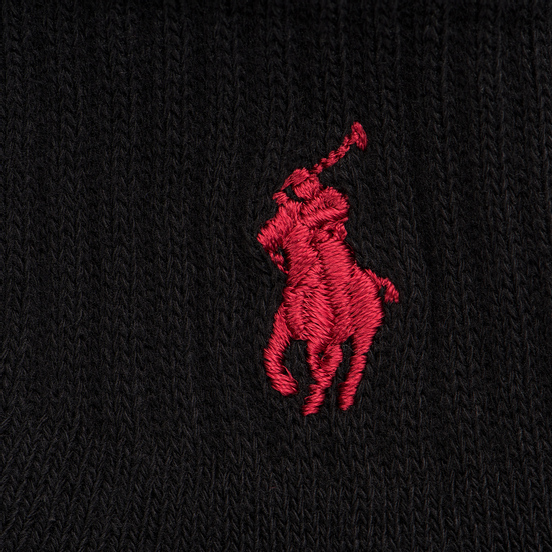 Комплект носков Polo Ralph Lauren Quarter 3-Pack Black