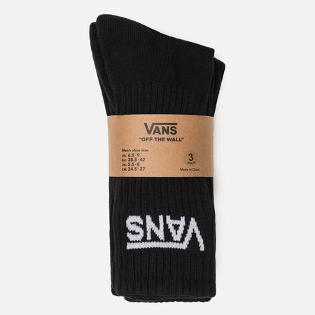 Комплект мужских носков Vans Classic Crew 3-Pack Black/White