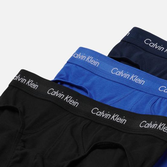 Комплект мужских трусов Calvin Klein Underwear 3-Pack Hip Brief Blue/Navy/Black