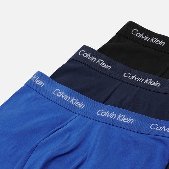 Комплект мужских трусов Calvin Klein Underwear 3-Pack Low Rise Trunk Blue/Navy/Black