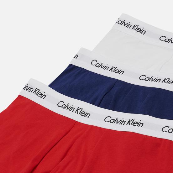 Комплект мужских трусов Calvin Klein Underwear 3-Pack Low Rise Trunk Blue/Red/White