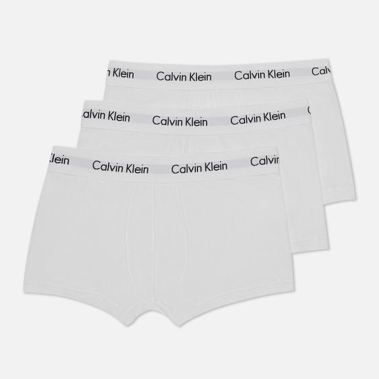 Комплект мужских трусов Calvin Klein Underwear 3-Pack Low Rise Trunk White/White