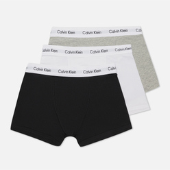 Комплект мужских трусов Calvin Klein Underwear 3-Pack Trunk Brief Black/Grey/White