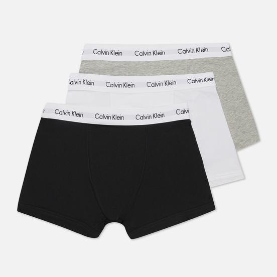 Комплект мужских трусов Calvin Klein Underwear 3-Pack Trunk Brief Black/Grey/White