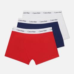 Комплект мужских трусов Calvin Klein Underwear 3-Pack Trunk Brief Blue/Red/White