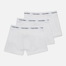 Комплект мужских трусов Calvin Klein Underwear 3-Pack Trunk Brief White/White фото- 1