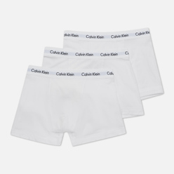 Комплект мужских трусов Calvin Klein Underwear 3-Pack Trunk Brief White/White