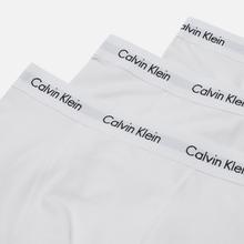 Комплект мужских трусов Calvin Klein Underwear 3-Pack Trunk Brief White/White фото- 2