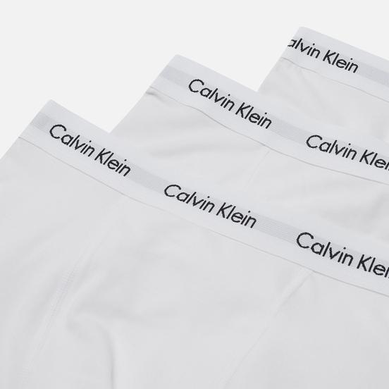 Комплект мужских трусов Calvin Klein Underwear 3-Pack Trunk Brief White/White