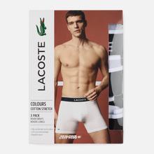 Комплект мужских трусов Lacoste Underwear 3-Pack Boxer Brief Black фото- 2