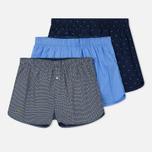 Комплект мужских трусов Lacoste Underwear 3-Pack Boxers Ultra Marine/Dark Navy/Grey фото- 0