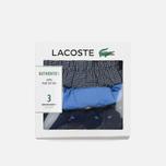 Комплект мужских трусов Lacoste Underwear 3-Pack Boxers Ultra Marine/Dark Navy/Grey фото- 8