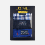 Комплект мужских трусов Polo Ralph Lauren Boxer 3-Pack Milton/Navy/Royal All Over Print Red фото- 5