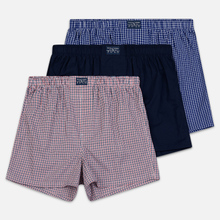 Комплект мужских трусов Polo Ralph Lauren Boxer 3-Pack Navy/William Plaid/Denis Plaid фото- 0