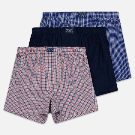 1c1974ff75d7c Polo Ralph Lauren Комплект мужских трусов Boxer 3-Pack Navy/William  Plaid/Denis Plaid