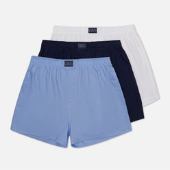 Комплект мужских трусов Polo Ralph Lauren Boxer 3-Pack White/Blue/Navy