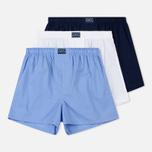 Комплект мужских трусов Polo Ralph Lauren Boxer 3-Pack White/Blue/Navy фото- 0