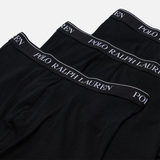 Комплект мужских трусов Polo Ralph Lauren Boxer Brief 3-Pack Black