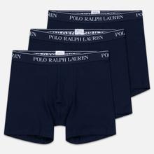 Комплект мужских трусов Polo Ralph Lauren Boxer Brief 3-Pack Cruise Navy фото- 0