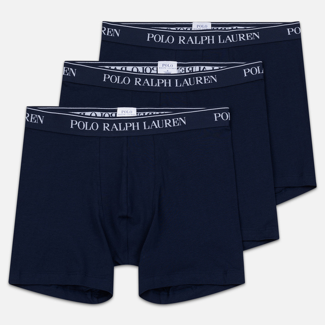 Комплект мужских трусов Polo Ralph Lauren Boxer Brief 3-Pack Cruise Navy