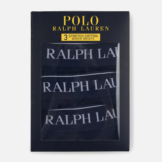 Комплект мужских трусов Polo Ralph Lauren Boxer Brief 3-Pack Cruise Navy