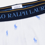 Комплект мужских трусов Polo Ralph Lauren Boxer Brief 3-Pack Navy/Bermuda/White All Over Print Blue фото- 4