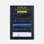 Комплект мужских трусов Polo Ralph Lauren Boxer Brief 3-Pack Navy/Bermuda/White All Over Print Blue фото- 5