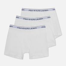 Комплект мужских трусов Polo Ralph Lauren Boxer Brief 3-Pack White фото- 1