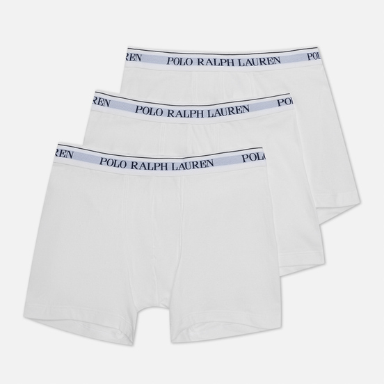 Комплект мужских трусов Polo Ralph Lauren Boxer Brief 3-Pack White