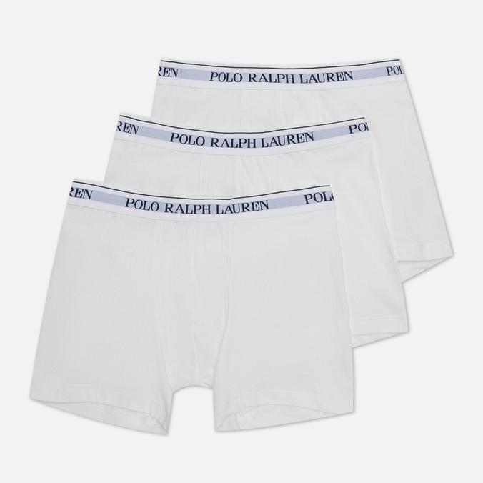 Комплект мужских трусов Polo Ralph Lauren Boxer Brief 3-Pack комплект из 3 х трусов шорт