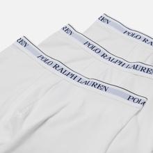 Комплект мужских трусов Polo Ralph Lauren Boxer Brief 3-Pack White фото- 0