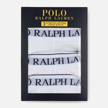Комплект мужских трусов Polo Ralph Lauren Boxer Brief 3-Pack White фото- 2