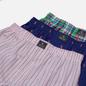 Комплект мужских трусов Polo Ralph Lauren Classic Boxer 3-Pack Blue Yacht Chroma Pink All Over Pony Print/Nantucket Plaid/Chillmark Stripe фото - 1