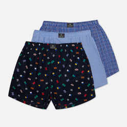 Комплект мужских трусов Polo Ralph Lauren Classic Boxer 3-Pack Signal Flag Print/Durham Plaid/Blue