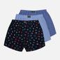 Комплект мужских трусов Polo Ralph Lauren Classic Boxer 3-Pack Signal Flag Print/Durham Plaid/Blue фото - 0