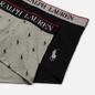 Комплект мужских трусов Polo Ralph Lauren Classic Trunk 2-Pack Black/Andover Heather All Over Print Pony фото - 1