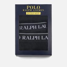 Комплект мужских трусов Polo Ralph Lauren Classic Trunk 3-Pack Black фото- 3