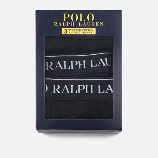 Комплект мужских трусов Polo Ralph Lauren Classic Trunk 3-Pack Black