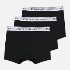 Комплект мужских трусов Polo Ralph Lauren Classic Trunk 3-Pack Black/White