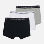 f363a3231de0d Комплект мужских трусов Polo Ralph Lauren Classic Trunk 3-Pack Black /White/Grey