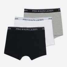 Комплект мужских трусов Polo Ralph Lauren Classic Trunk 3-Pack Black/White/Grey фото- 2