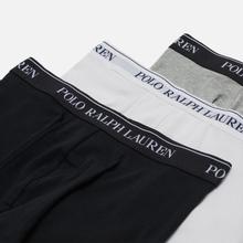 Комплект мужских трусов Polo Ralph Lauren Classic Trunk 3-Pack Black/White/Grey фото- 1