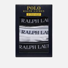 Комплект мужских трусов Polo Ralph Lauren Classic Trunk 3-Pack Black/White/Grey фото- 3