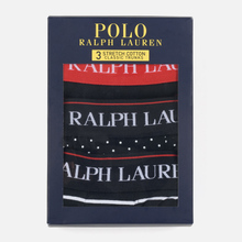 Комплект мужских трусов Polo Ralph Lauren Classic Trunk 3-Pack Black/White Stripe/White Dots фото- 4