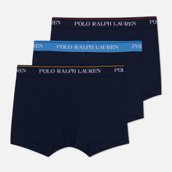 Комплект мужских трусов Polo Ralph Lauren Classic Trunk 3-Pack Navy/Yellow/Navy/Red/Navy/Blue