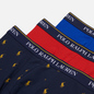 Комплект мужских трусов Polo Ralph Lauren Classic Trunk 3-Pack Sapphire Star/Red/Navy All Over Pony Print фото - 1