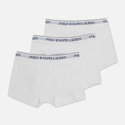 Комплект мужских трусов Polo Ralph Lauren Classic Trunk 3-Pack White