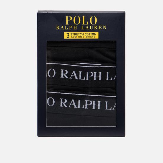 Комплект мужских трусов Polo Ralph Lauren Low Rise 3-Pack Black